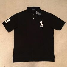 Polo Ralph Lauren Big & Tall Classic Fit Big Pony Polo Shirt Black RRP: €139.00