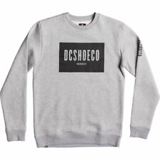 Dc Squareside Crew Hommes Pull Sweater - Grey Heather Toutes Tailles