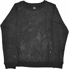 Volcom Space Trip Crew Femmes Pull Sweater - Black Toutes Tailles