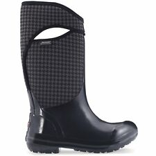 Bogs Plimsoll Houndstooth Tall Femmes Bottes - Black Multi Toutes Tailles