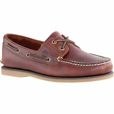 Timberland Classic 2 Eye Boat Hommes Chaussures Mocassins - Rootbeer Smooth