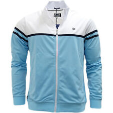 Weekend Offender Full Zip Lightweight Split Colour Track Top Jumper - Steinbeck