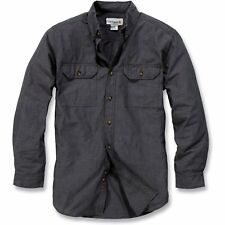 Carhartt Workwear Fort Solid Hommes Chemise - Black Chambray Toutes Tailles