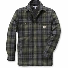 Carhartt Workwear Hubbard Sherpa Lined Mens Shirt Long Sleeve - Moss All Sizes