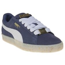 New Womens Puma Blue Suede Classic Bboy Fabulous Trainers Court Lace Up