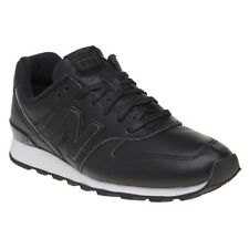 New Womens New Balance Black 996 Leather Trainers Retro Lace Up
