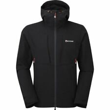 Montane Dyno Stretch Hommes Veste Soft Shell - Black Alpine Red Toutes Tailles