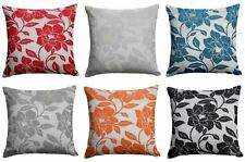 "Peony Flower Cushion Cover Luxury Floral Chenille Cushion Covers 18"" x 18"""
