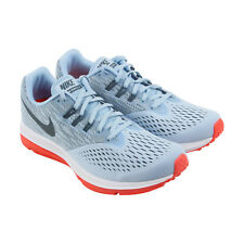 Nike Zoom Winflo 4 Womens Blue Textile Athletic Lace Up Running Shoes