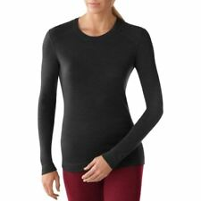 Smartwool Nts Midweight Crew Womens Base Layer Top - Black All Sizes