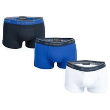 Mens Armani 3 Pack Boxers In Blue-White From Get The Label