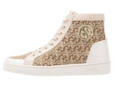 SNEAKER DONNA GUESS GERTA STIVALETTO RIALZO CM 4 BEIGE
