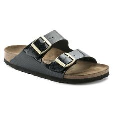 SANDALO DONNA BIRKENSTOCK ARIZONA BIRKO-FLOR DOPPIA FASCIA IN PELLE MAGIC SNAKE
