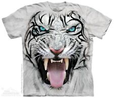 The Mountain Big Face Tribal White Tiger T Shirt Animal Tiere S - 3XL  #3218 598