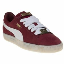 New Womens Puma Maroon Red Suede Classic Bboy Fabulous Trainers Court Lace Up
