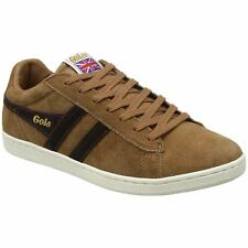 Gola Equipe Tobacco Dark Brown Mens Suede Classic Low-top Sneakers Trainers