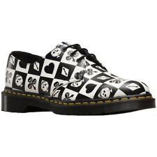 Dr.Martens 1461 Playing Card 3-Eyelet Egret Womens Backhand Leather Derby Shoes