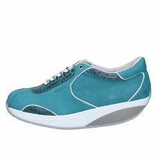 scarpe donna MBT sneakers blu nabuk pelle BY959