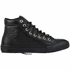 Converse Chuck Taylor All Star Boot PC Hi Black Womens Leather High-top Trainers
