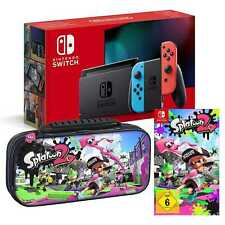 Nintendo Switch Konsole Bundle Set + Splatoon 2 + Tasche optional, NEU&OVP