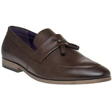 New Mens SOLETRADER Brown Wigbert Pu Shoes Loafers And Slip Ons On