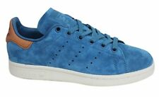 Adidas Originals Stan Smith Lace Up Blue Brown Leather Mens Trainers BB0043 U28