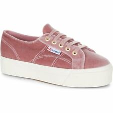 Superga 2790 Velvetw Femmes Chaussures Chaussure - Dusty Rose Toutes Tailles