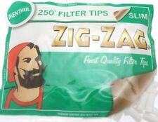 ZIG ZAG MENTHOL SLIM FILTER TIPS - 250 Filters in a Bag - Multi Buy Discount