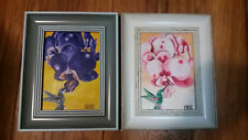 Framed 5x7 Acrylic Painting on Canvas Orchid & Humming Bird by Iris M-W
