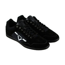 Diesel S-Aarrow Mens Black Suede Lace Up Trainers Shoes