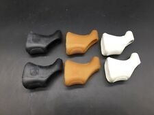 VINTAGE CAMPAGNOLO RECORD RUBBER BRAKE LEVERS HOODS PARA/WHITE/BLACK NOS SUPER