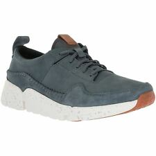 Clarks Tri Active Run Blue Mens Nubuck Suede Casual Lace-Up Trainers