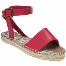 New Womens Superdry Pink Sofia Espadrille Leather Sandals Espadrilles Buckle