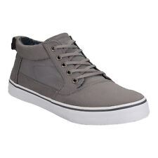 Men's Toms Valdez Mid Cotton Twill Pumps In Grey From Get The Label