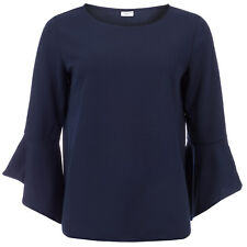Womens Jacqueline De Yong Bernadette Bell Sleeve Top In Sky Captain