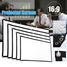 "60-120"" HD Projector Screen 16:9 Home Cinema Theater Projection Portable Screen"
