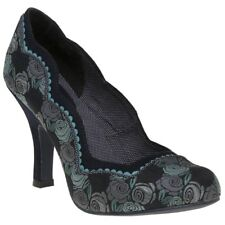 New Womens Ruby Shoo Blue Madison Textile Shoes Floral Slip On
