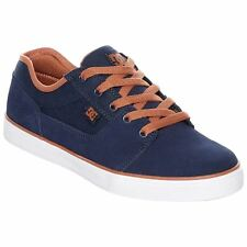 DC Shoes Tonik Navy Blue Youth Suede Canvas Skate Shoes Trainers