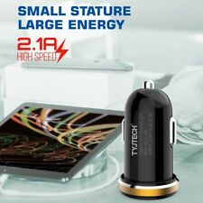Dual Port USB Rapid Car Charger 2.1A Fast Charging For Apple Samsung HTC