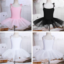 Girls Kids Camisole Ballet Dance Tutu Dress Ballerina Gymnastic Leotard Skirt