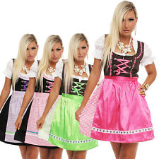 4211 Dirndl Vêtement traditionnel 3 parts ROBE chemisier tablier Fête de la