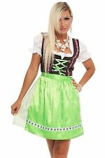 4211 Dirndl Vêtement traditionnel 3 parts ROBE Mini-robe chemisier tablier