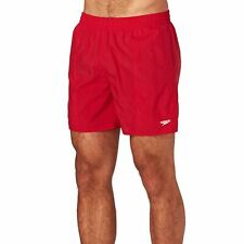 Speedo Solid Leisure 16inch Mens Shorts Swim - Red All Sizes