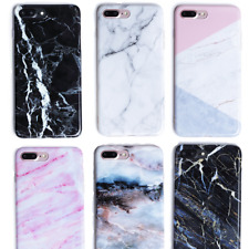 Art Glossy Granite Marble Soft TPU Phone Case Cover For iPhone 8 6s 6 X 7 Plus