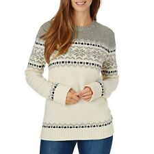Penfield Heywood Femme Pull Sweater - Light Grey Toutes Tailles