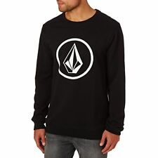 Volcom Stone Crew Homme Pull Sweater - Black Toutes Tailles
