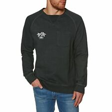 Rip Curl Surfcraft Crew Homme Pull Sweater - Pirate Black Toutes Tailles