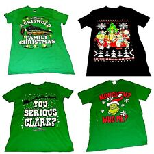 Mens' Short Sleeve Christmas Shirts Grinch Clark Griswold Rugrats   NWT