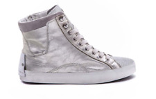 STIVALETTO DONNA CRIME LONDON ANFIBIO STIVALETTO CON ZIP LEATHER PLATINO.
