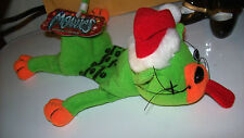 Green SPLAT THE CAT Christmas Shocking Stuffers Meanies Beanie NEW w/ Tags